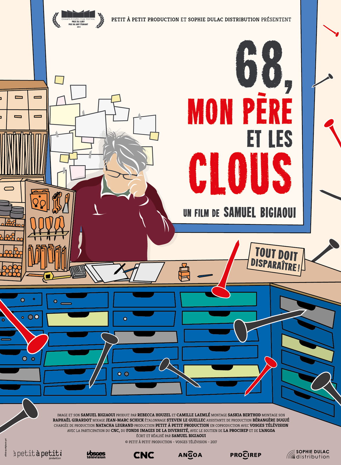 """Projection """"68, mon père et les clous"""" de Samuel Bigiaoui"""